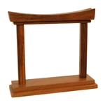 Gong Stand, Rosewood, Curved, 4""
