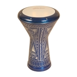 Aluminum Doumbek, Traditional Motif Blue