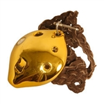 Ocarina, Necklace, Soprano, D5, Gold