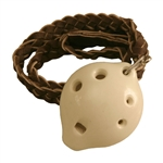Ocarina, Necklace, Soprano, D5, White