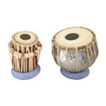 Tabla Set, Embossed, Nickled Brass
