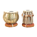 Tabla Set, Embossed Brass