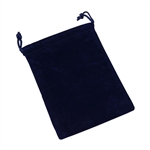 Velvet Bag with draw string, Blue