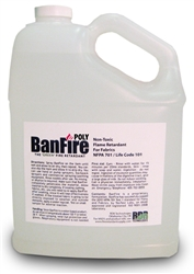 BanFire Poly Retardant for Sheer Fabric - 1 Gallon