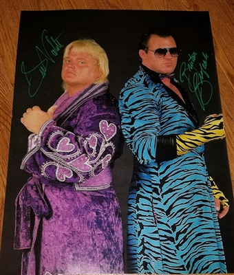 THE DREAM TEAM BRUTUS BEEFCAKE & GREG VALENTINE signed poster