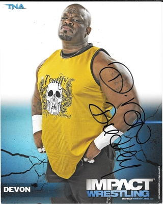 DEVON signed official impact photo