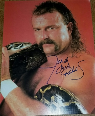 JAKE THE SNAKE ROBERTS signed poster!!