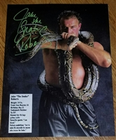 JAKE THE SNAKE ROBERTS signed poster