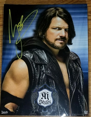 AJ STYLES signed photo!