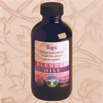 Mountain Body Products | Tropic Blended Massage & Bath Oil - 4 oz.