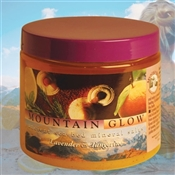 Mountain Body Products | Mountain Glow Mineral Salt Scrub - 16 oz. - Lavender & Tangerine  (natural alpha hydroxy)