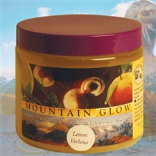 Mountain Body Products | Mountain Glow Mineral Salt Scrub - 16 oz. - Lemon Verbena