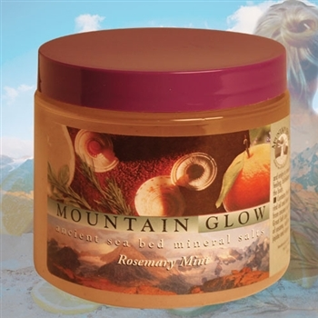 Mountain Body Products | Mountain Glow Mineral Salt Scrub -16 oz. - Rosemary Mint