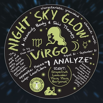 Mountain Body Products | Night Sky Glow Mineral Salt Scrub - 8 oz. - Virgo
