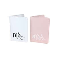 Mr. and Mrs. Passport Wallets Set of 2