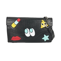 Circus by Sam Edelman Jayden Emoji Patch Shoulder Bag