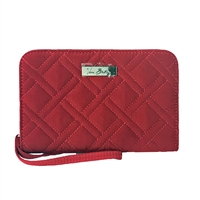 Vera Bradley Microfiber Zip Around Wristlet Wallet