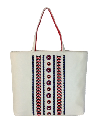 Tory Burch Embellished Stitch Tote