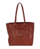 Tory Burch Clay Pebble Leather Shopper Tote