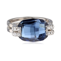 "OroClone ""Crystal Luxe"" Cushion Cut Ring"