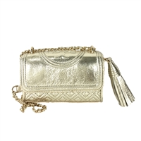 Tory Burch Fleming Metallic Mirco Shoulder Bag