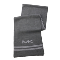 Michael Kors Big MK Bottom Stripe Knit Muffler Scarf