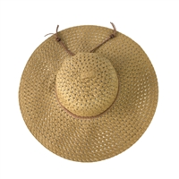 Fashion Culture Packable Woven Floppy Sun Hat