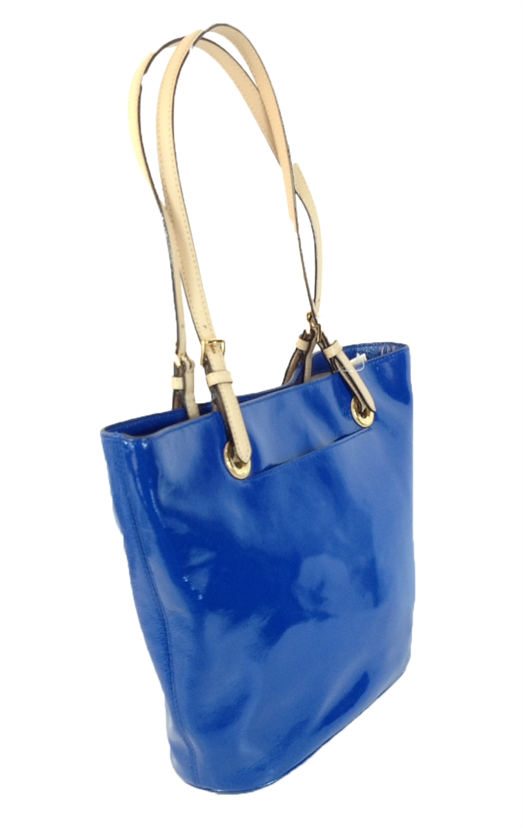 Michael Kors Jet Set Item Large Patent Leather Tote, Electric Blue