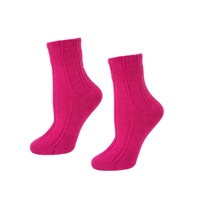 Kate Spade Mixed Rib Cashmere Crew Sock