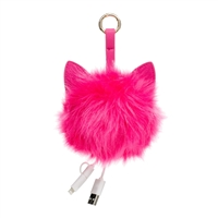 Pom Pom w Ears Portable Charger Power Bank
