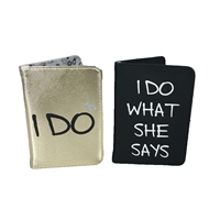 I Do Passport Holder His & Her Set of 2