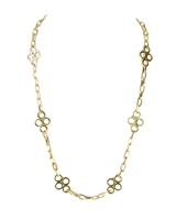 Tory Burch Large Clover Chain Long Necklace