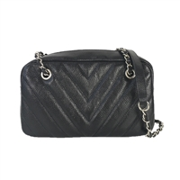 Zenith Chevron Quilted Leather Chain Crossbody