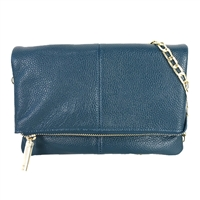Zenith Classic Leather Fold Over Crossbody Wallet