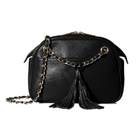 Zenith Leather Tassel Chain Convertible Crossbody