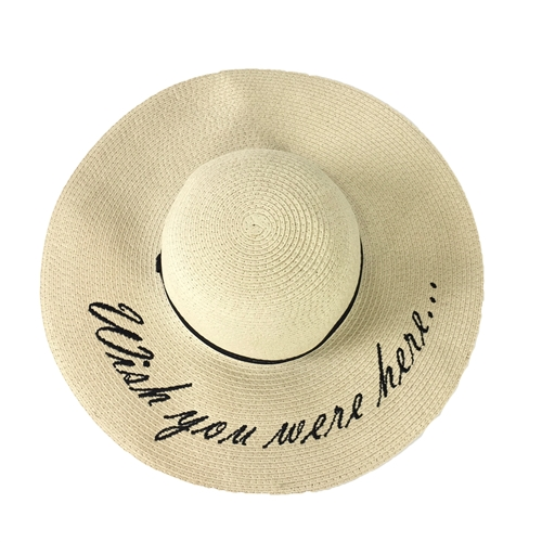 'Wish You Were Here' Floppy Sun Hat