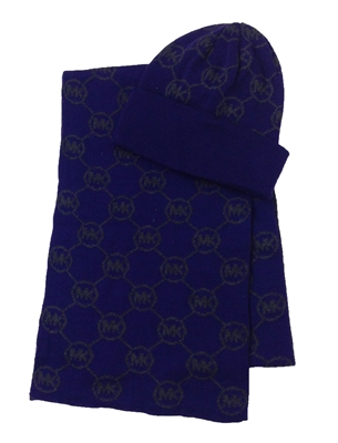 Michael Kors Jetset Logo Knit Scarf & Hat Box Set