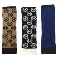 Michael Kors Jet Set Circle Logo Fingerless Gloves Arm Warmers