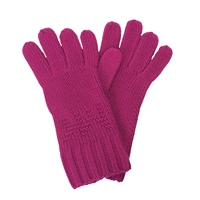 Michael Kors Seed Stitch MK Logo Knit Gloves
