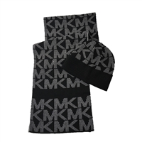 Michael Kors Jumbo Pin Dot Logo Knit Scarf & Hat