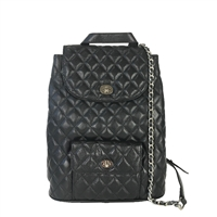 Zenith Diamond Quilted Leather Backpack