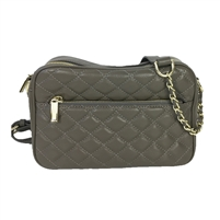 Zenith Quilted Leather Camera Crossbody