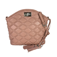 Zenith Quilted Leather Dome Convertible Crossbody