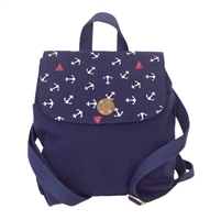 Tommy Hilfiger Anchor Print Canvas Small Backpack