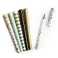 Metallic Prints Ball Point Pens Set of 6 Gift Boxed,
