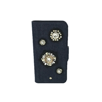 Kate Spade Denim Embellished iPhone 8 7 Folio Case