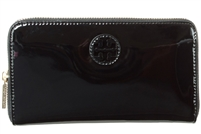Tory Burch Patent Leather Stacked Logo Wallet