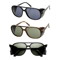 Havana Square Aviator Shield Sunglasses