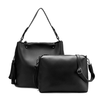 Melie Bianco Niccola 2 in 1 Vegan Leather Hobo Crossbody