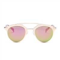 Betsey Johnson Futuristic Flat Brow Bar Sunglasses